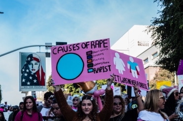 """Causes of Rape."" Women's March 2020, DTLA (Photo: Janette Ayub)"